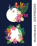 tropical and exotic floral... | Shutterstock .eps vector #1035983203