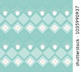 Cute Flowers Pattern Background
