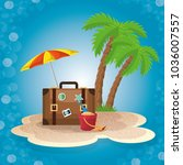 summer vacattions set icons | Shutterstock .eps vector #1036007557