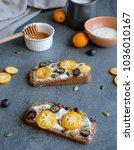 delicious homemade wholemeal...   Shutterstock . vector #1036010167