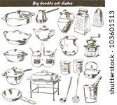 vector set   doodle   kitchen | Shutterstock .eps vector #103601513