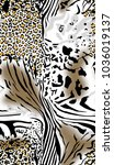 leopard and zebra pattern.for... | Shutterstock . vector #1036019137
