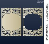 paper greeting card with lace... | Shutterstock .eps vector #1036019383