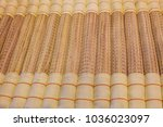 traditional thai reed mat...   Shutterstock . vector #1036023097