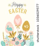 Happy Easter. Vector Template...