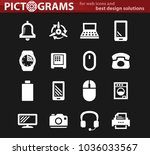 home appliances vector icons... | Shutterstock .eps vector #1036033567