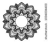 mandala. decorative round... | Shutterstock .eps vector #1036036603