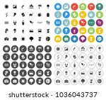 beach and summer icons set  ... | Shutterstock .eps vector #1036043737