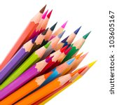 colour pencils isolated on... | Shutterstock . vector #103605167