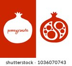 pomegranate  sketch for your...   Shutterstock .eps vector #1036070743