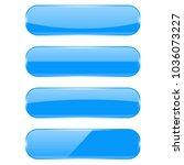 blue glass buttons. vector 3d...   Shutterstock .eps vector #1036073227