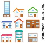 collection of various... | Shutterstock .eps vector #1036079587