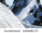 Team Of Two Alpinists On...