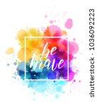 dream big hand lettering phrase ... | Shutterstock .eps vector #1036092223
