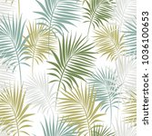 seamless pattern with palm... | Shutterstock .eps vector #1036100653