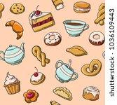 vector tea party | Shutterstock .eps vector #1036109443