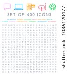 400 universal thin line black... | Shutterstock .eps vector #1036120477