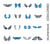freedom wings emblems set.... | Shutterstock .eps vector #1036124083