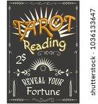 tarot reading poster. | Shutterstock . vector #1036133647