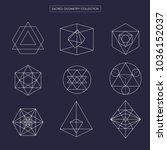 sacred geometry vector design... | Shutterstock .eps vector #1036152037