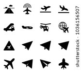 solid vector icon set   runway... | Shutterstock .eps vector #1036156507