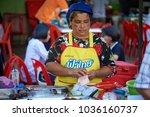 krabi  thailand   jan 28  2018  ... | Shutterstock . vector #1036160737