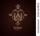 vector logo of nature geometric ... | Shutterstock .eps vector #1036164823