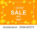 spring sale poster with flower... | Shutterstock .eps vector #1036165273