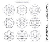 sacred geometry vector design... | Shutterstock .eps vector #1036168993