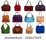 set of multicolored female bags ... | Shutterstock . vector #103617653