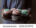 tasty cupcakes on background... | Shutterstock . vector #1036192993