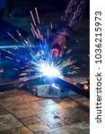 steel welding 45 degrees | Shutterstock . vector #1036215973