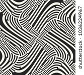 abstract monochrome twisted... | Shutterstock .eps vector #1036224967
