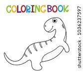 cute dino coloring book. | Shutterstock .eps vector #1036237597