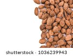 Small photo of Chinese herbal medicine, Cocklebur or Xanthium Fruit, isolated on white background