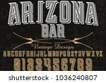 font alphabet typeface...   Shutterstock .eps vector #1036240807