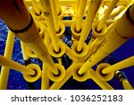 drilling pipe offshore oil and... | Shutterstock . vector #1036252183