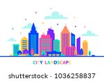 city landscape. silhouettes of...   Shutterstock .eps vector #1036258837
