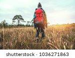 asian women travel  nature.... | Shutterstock . vector #1036271863