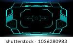 hud futuristic elements... | Shutterstock .eps vector #1036280983