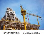 offshore construction platform... | Shutterstock . vector #1036288567