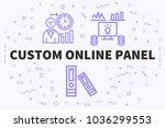 conceptual business... | Shutterstock . vector #1036299553