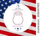kettlebell line icon | Shutterstock .eps vector #1036347403