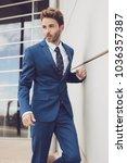 handsome male model posing... | Shutterstock . vector #1036357387