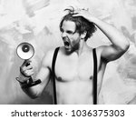 bearded man  short beard.... | Shutterstock . vector #1036375303
