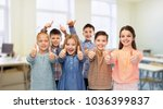 education  school and people...   Shutterstock . vector #1036399837