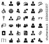 flat vector icon set  ... | Shutterstock .eps vector #1036432357