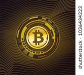 abstract technology bitcoin...   Shutterstock .eps vector #1036434223