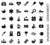 flat vector icon set   liquid... | Shutterstock .eps vector #1036438057