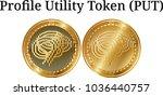 set of physical golden coin...   Shutterstock .eps vector #1036440757